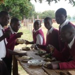 As of now, pupils still eat outside.