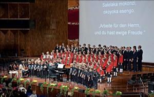 Erstes Benefizkonzert der Wiltener Sängerknaben für Ugari, Oktober 2010.