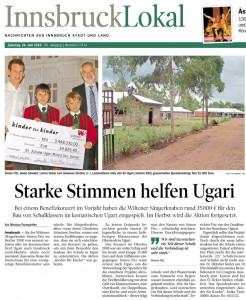 TT vom 26.06.2010: Starke Stimmen helfen Ugari