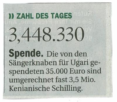 Tiroler Tageszeitung vom 26.06.2010: Zahl des Tages