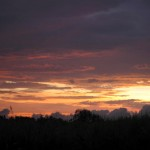 Sonnenuntergang in Migori