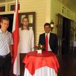 österreichischer Botschafter mit Tarek und mir. (österreichischer Botschafter ist übrigens gebürtiger IBKler!!)
