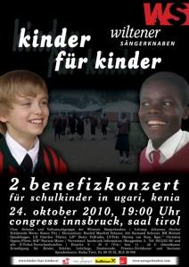 Plakat: Benefizkonzert Kinder für Kinder am 24.10.2010