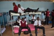 Das umfunktionierte Klassenzimmer.