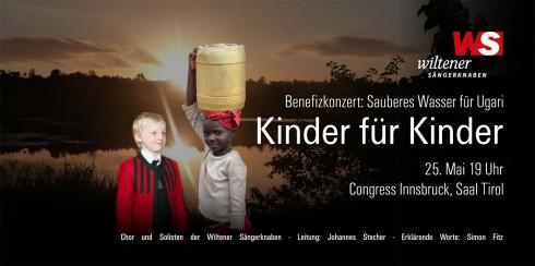 """Flyer 2014: """"Kinder für Kinder - Sauberes Wasser für Ugari"""""""