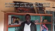 Schuldirektor Rabet Abidha aus Ugari sagt Danke