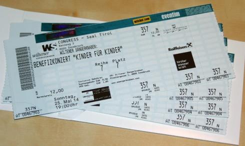Muttertags-Geschenktipp: Eintrittskarten zu unserem Benefizkonzert am 25.05. gibt es im Vorverkauf für 4-35 Euro.