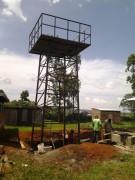 Der Speicherturm ist errichtet