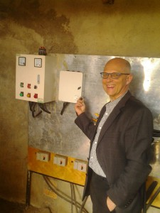 Herr Staudigl aktiviert die neue Pumpe